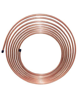 25 Ft 5/16 In Copper-Nickel Brake, Fuel, Transmission Tubing Coil (Universal Size)