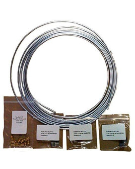 25 Ft 3/16 In Brake Line Kit, Universal Size - Galvanized Steel Coil (Includes Fittings)