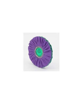 "Zephyr 10"" Buffing Wheel Airway Purple/Green Smooth Cut"