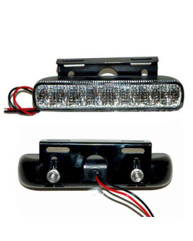 8 LED Dual Glow Strobe Lights White Strobes for Cars, Trucks, Atv's Boats and More