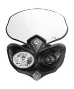 Acerbis 2042690001 Cyclops Black Headlight