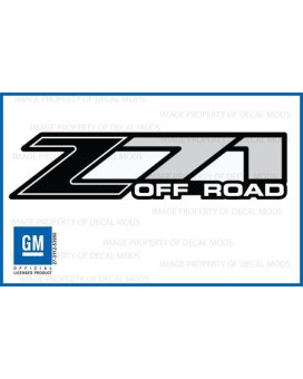 Decal Mods Z71 Off Road Black Decals Stickers Fits Chevy Silverado - Fb (2001-2006) Bed Side 1500 2500 Hd (Set Of 2)
