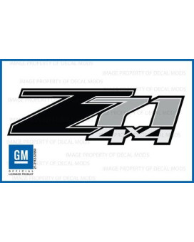 Decal Mods Z71 4X4 Black Decals Stickers Fits Chevy Silverado - Fb (2007-2013) Bed Side 1500 2500 Hd (Set Of 2)