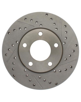 Stoptech 227.45068L Select Sport Drilled And Slotted Brake Rotor; Front Left