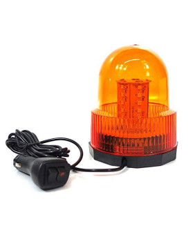 Xtreme High Intensity Super Bright Yellow(Amber) Revolving 30 LED 5050 SMD 15W LED Emergency Vehicle Magnetic Mount Strobe and Rotating Beacon Warning Light
