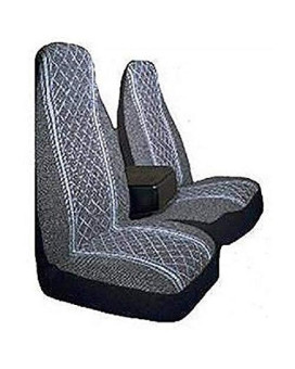 Allison 67-1917Gry Gray Diamond Back 60/40 Split Truck Seat Cover ( Pack Of 2)