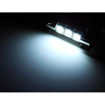 Zhol Super Bright White Vanity Led Light Bulbs Mirror Fuse Sun Visor 3-Smd 6641 (A Pair)
