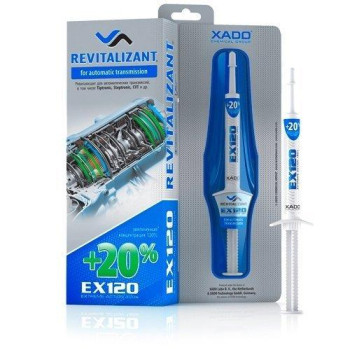 XADO Revitalizant EX120 Conditioner for Automatic Gearbox & CVT Tiptronic Transmission Oil Treatment Additive (Box, Syringe 8 ml) Protectant Fluid - Restore Your ATF Metal Parts from Wear (Automatic)