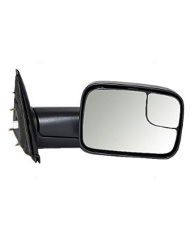 Power Side Trailer Tow Flip-Up Mirror Heated 7X10 Passenger Replacement For Dodge Pickup Truck 55077444Ao