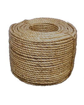 Wellington 28773 Twisted Rope, 1/2 in Dia x 600' L, Manila Fiber, Natural
