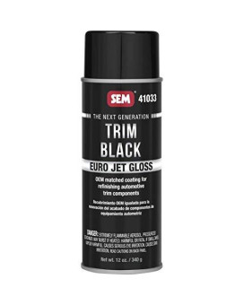 Sem 41033 Trim Black Euro Jet Gloss Undercoating, 12. Fluid_Ounces