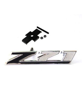 Yoaoo 1X Oem Black Grille Z71 Emblem Badge 3D For Gm Silverado 2500Hd 3500Hd Sierra Tahoe Chrome