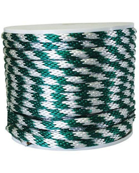 """Wellington P7240s0200g70s Solid Braid Poly Derby Rope Spool, 5/8"""" X 200'"""