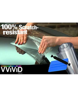 Vvivid Clear Paint Protection Scratch Resistant Vinyl Wrap Film (8 Inch X 120 Inch W/Toolkit)