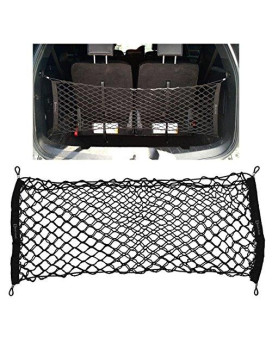 Zento Deals Black Mesh Net Cargo Trunk Storage Organizer