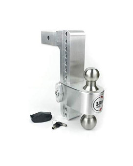 """Weigh Safe Ltb10-2.5, 10"""" Drop 180 Hitch W/ 2.5"""" Shank/Shaft, Adjustable Aluminum Trailer Hitch &Amp; Ball Mount, Stainless Steel Combo Ball (2"""" &Amp; 2-5/16"""") And A Double-Pin Key Lock"""