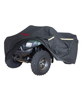 Badass Moto Gear ATV Cover, Heavy Duty Industrial Grade Engineered For All Weather Protection, Waterproof, Night Reflective, Zipper Tank Access From Outside, Storage Bag, Trailer Safe, MEDIUM 85??ong