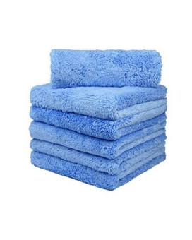 CARCAREZ Microfiber Towels for Cars, Car Drying Wash Detailing Buffing Polishing Towel with Plush Edgeless Microfiber Cloth, 450 GSM 16x16 in. Pack of 6