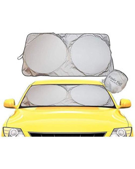 Windshield Sun Shade - 210T Fabric Highest In The Market For Maximum Uv And Sun Protection -Foldable Sunshade For Car Windshield Will Keep Your Car Cooler- Windshield Sunshade (Xl)