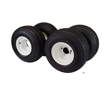 18x8.50-8 with 8x7 White Assembly for Golf Cart and Lawn Mower (Set of 4)