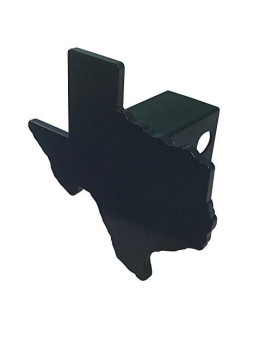 AMG Auto Emblems Premium State of Texas (Texas Shaped) SOLID METAL Heavy Duty Black Hitch Cover