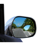 """2 Pack Blind Spot Mirrors Car Accessories By Lebogner - 2"""" Round Hd Glass Slim Frameless Convex Rear View Mirror, Wide Angle 360°Rotate 30°Sway Adjustable Stick On Mirror For All Cars, Suv, And Trucks"""