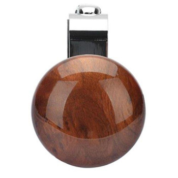 Vorcool Metal Steering Wheel Assistive Ball Power Booster Ball Spinner Steering Wheel Knob For Car Vehicle (Peach Wood Color)