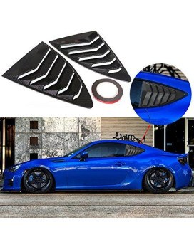 Dtouch Racing 2 Piece Abs 2 Piece Window Left/Right Carbon Fiber Exterior Racing Style Rear Side Window Vent/Louvers For 2013-Up Scion Fr-S Subaru Brz And Toyota 86