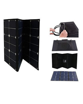 60 Watt Portable Foldable Solar Panel with Built-in Carrying Case Monocrystalline