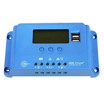 AIMS 10 AMP SOLAR CHARGE CONTROLLER 12 OR 24 VDC PWM