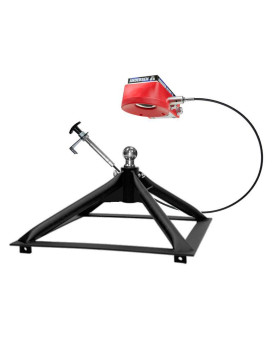 Ultimate 5th Wheel Connection (Rail mount) -Steel, ONLY 40 lbs! (now w/ball-funnel)