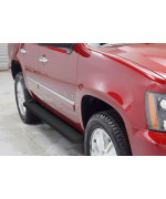 2005-2014 Chevy Tahoe 4-Door (Excl. Z71 & Hybrid) 2005-2014 Gmc Yukon 4-Door (Excl. Z71 & Hybrid) 2002-2006 Chevy Avalanche (W/Cladding) 6061 Aircraft Aluminum Black Finishing Irunning Board