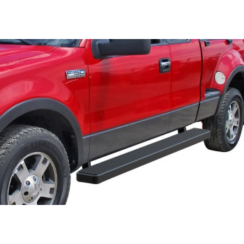2004-2008 Ford F-150 Super Cab (Excl. Heritage) 6061 Aircraft Aluminum Black Finishing Istep 6 Inch Sidestep