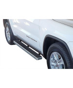 2011-2018 Jeep Grand Cherokee (Excl. Srt And Trail Hawk Models) 6061 Aircraft Aluminum Hairline Finishing Istep 5 Inch Sidestep