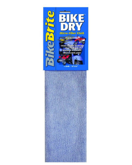 "Bike Brite MC59000 Blue 5"" x 16.5"" x .5"" Bike Dry Microfiber Cloth"