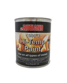 Rutland 1200-Degree F Brush-On Flat Stove Paint, 16 Fluid Ounce, Black