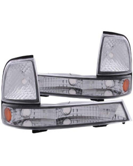 Anzo Usa 511003 Ford Ranger Chrome Euro W/Amber Reflector Parking Light Assembly - (Sold In Pairs)