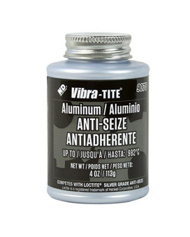 Vibra-Tite 9070 Aluminum Anti-Seize Compound Lubricant, 4 Oz Jar With Brush, Silver