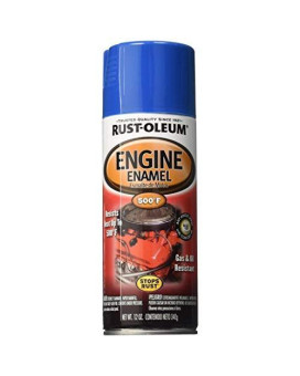 Rust-Oleum 248945 Automotive Rust Preventive Engine Enamel Spray Paint, 12 Oz Aerosol Can, Ford Blue, 12-Ounce