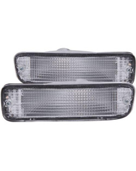 Anzo Usa 511018 Toyota Tacoma Chrome Clear W/Amber Reflectors Bumper Light Assembly - (Sold In Pairs)