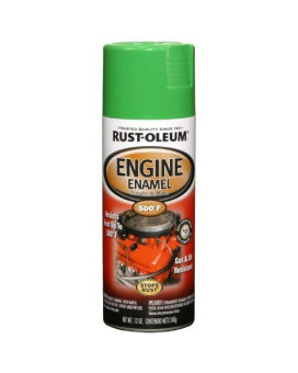 Rust-Oleum 248951 Engine Enamel Spray Paint, 12-Ounce, Grabber Green