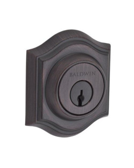 Baldwin Reserve 9Br3850-010 Traditional Arch Low Profile Double Cylinder Deadbolt In Venetian Bronze