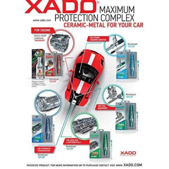 XADO EX120 Revitalizant for Manual Transmission - Stick Shift Gear Boxes, Transfer Cases & Differentials (Syringe 8 ml) - Friction Modifier & Anti Hard Shifting Additive