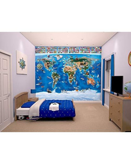 Walltastic Wt41851 Map Of The World Wall Mural