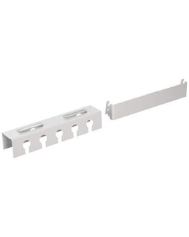 Wall Control Pegboard Slotted Tool Holder Bracket Slotted Metal Pegboard Accessory For Wall Control Pegboard And Slotted Tool Board - White