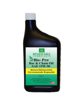 Renewable Lubricants Bio-Pro Bar And Chain Lubricant, 1 Qt Bottle