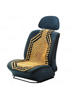 Zone Tech Wood Beaded Seat Cushion - Premium Quality Car Massaging Double Strung Wood Beaded Seat Cushion For Stress Free All Day!