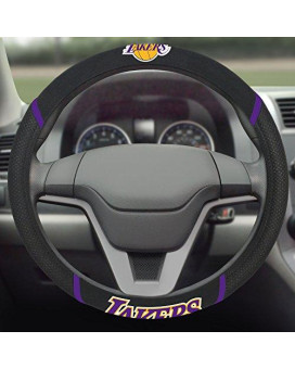 Fanmats 14795 Nba Los Angeles Lakers Polyester Steering Wheel Cover