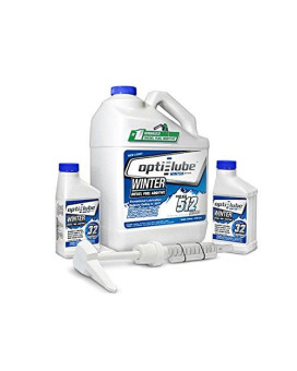 Opti-Lube Winter Formula Diesel Fuel Additive: 1 Gallon With Accessories, (1 Plastic Hand Pump And 2 Empty 8Oz Bottles) Treats Up To 512 Gallons