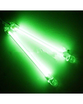 Autek 2X 15Cm Car Exterior/Interior Neon Bar Light (Green)